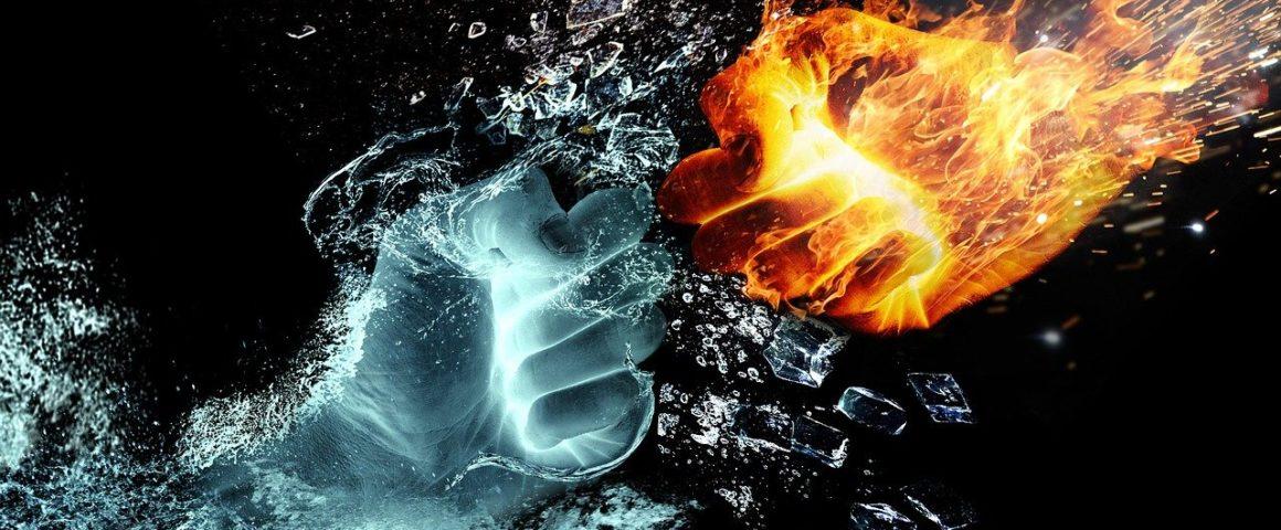 Hände aus Feuer und Wasser