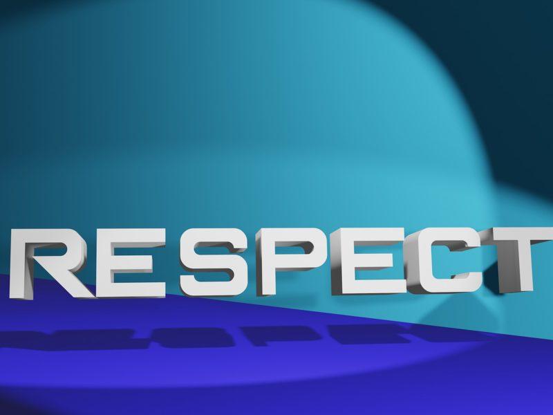"""Schriftzug """"Respect"""""""