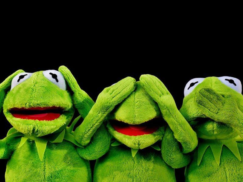 dreifacher Kermit - nichts hören, sehen, sagen
