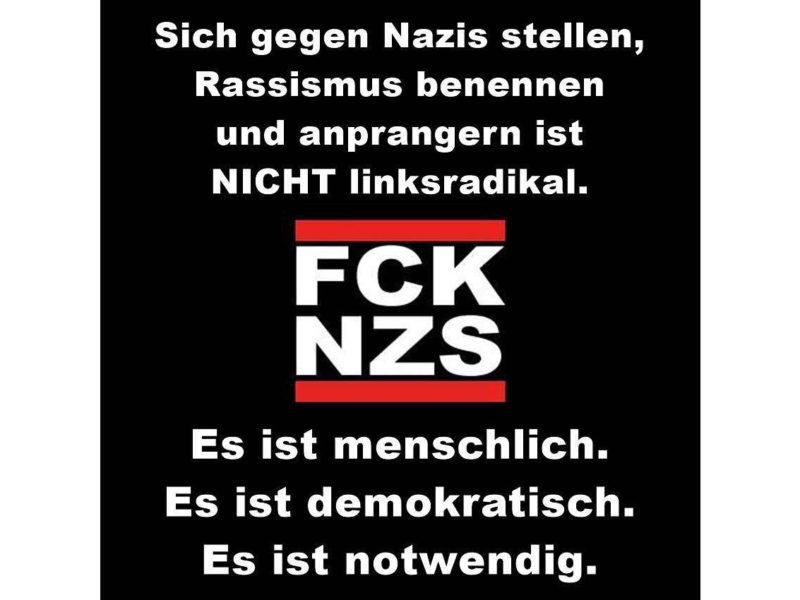 "Aufkleber ""FCK NZS"""